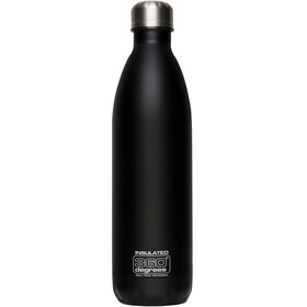 360° degrees Soda Insulated Drinkfles 750ml zwart